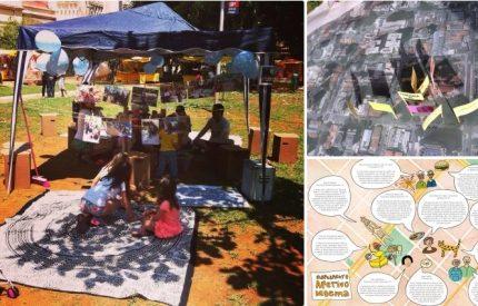 Exemplo de mapeamento feito na Praça Nossa Senhora Aparecida, em São Paulo, que coletou memórias de moradores.