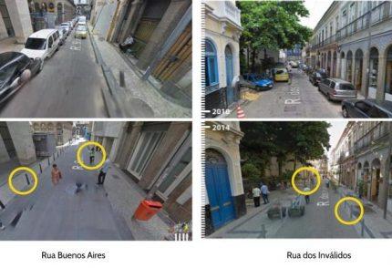 Modelo de rua compartilhada no Rio de Janeiro (RJ).