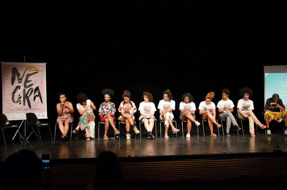 Os 10 jovens participantes do guia de Itinerários da Experiência Negra.