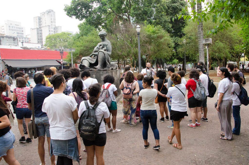 expedição pelo centro da cidade de São Paulo.