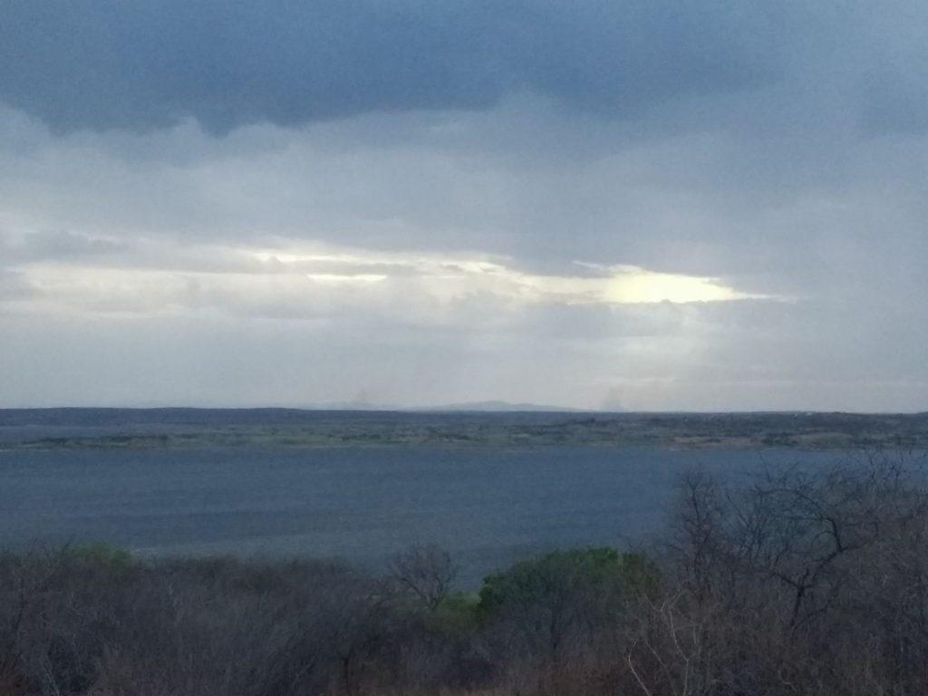 o açude araras, em Varjota, molhado da chuva