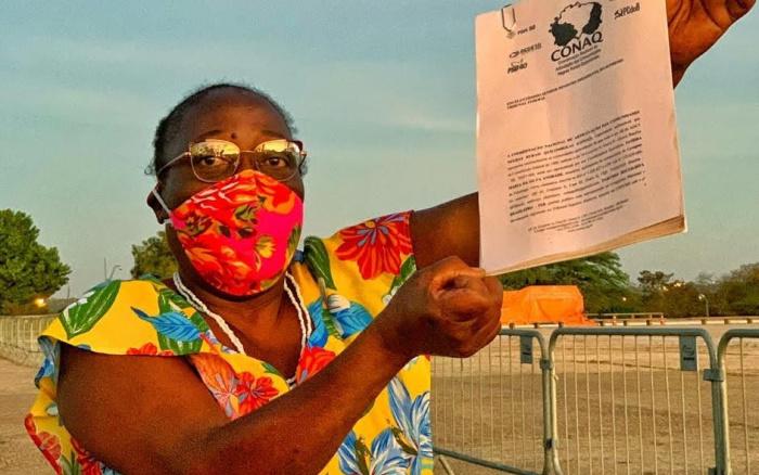 quilombola vai em frente ao congresso exigir ações